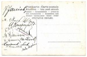 [TURYSTYKA - eksploratorzy gotowi do odkryć - fotografia pozowana]. [pocz. XX w.]. Fotografia pocztówkowa form....