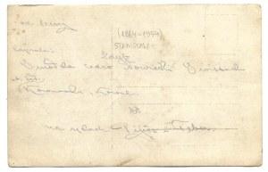 [LEGIONY Polskie - legioniści przed namiotem - fotografia zbiorowa]. [1915?]. Fotografia pocztówkowa form. 8,8x13,...