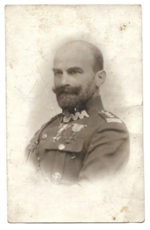 [WOJSKO Polskie -płk Stanisław Tadeusz Żmigrodzki - fotografia portretowa]. [192-?]. Fotografia pocztówkowa form....