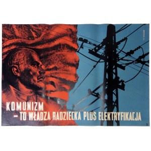 BERMAN Mieczysław - Komunizm - to władza radziecka plus elektryfikacja. 1955.