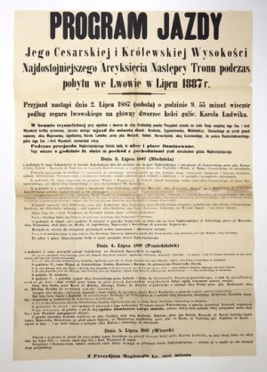 1887. Wizyta arcyksięcia Rudolfa we Lwowie