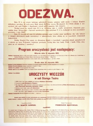 1913. Krakowskie obchody 50. rocznicy wybuchu powstania styczniowego