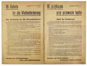 Ok. 1942. Nazistowska troska o dobre warunki transportu bydła