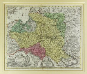 Mapa Polski T. C. Lottera, po 1772 r.