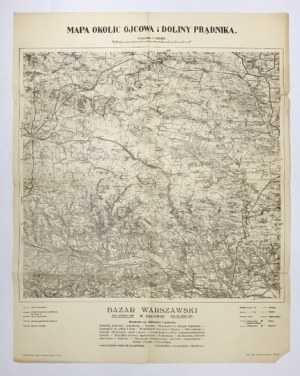 [MAŁOPOLSKA]. Mapa okolic Ojcowa i Doliny Prądnika. Mapa form. 36,2x37,5 na ark. 49,...