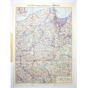 [WIELKOPOLSKA, POMORZE]. Mapa województwa poznańskiego i pomorskiego. Nomenklaturę opracował dr....