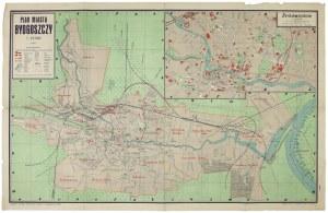 [BYDGOSZCZ]. Plan miasta Bydgoszczy. Plan barwny form. 40,5x64,5 cm.