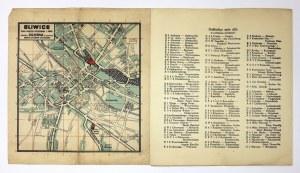 [GLIWICE]. Gliwice. Plan miasta wykonany w 1945 r. Plan barwny form. 20,3x19,4 na ark. 24,5x66,...