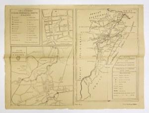 [KAŁUSZ]. Plan wolnego król. m. Kałusza [oraz] Plan śródmieścia Kałusza [oraz] Mapa powiatu kałuskiego do użytku szkolne...