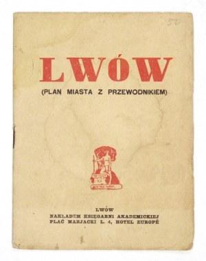 [LWÓW]. Plan miasta Lwowa. Litografia dwubarwna form. 36,4x41,1 cm.