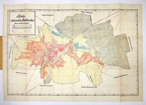 [RYBNIK]. Plan miasta Rybnika. Plan barwny form. 46,4x70,7 cm.