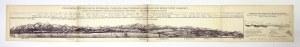 [TATRY]. Panorama Tatr Bielskich, Wysokich i Niskich, oraz przekrój geologiczny przez Tatry i Karpaty. Litografia na ark...