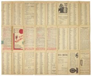 [WARSZAWA]. Plan Warszawy 1934-35 r. Plan barwny form. 44,5x54,2 cm.