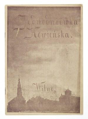 JEDNODNIÓWKAKowieńska. Wilno 1923. Druk Towarzystwa Wydawniczego