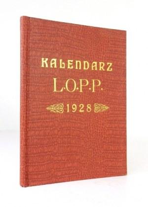 KALENDARZ L.O.P.P. na rok 1928. Lwów. Komitet Wojewódzki L.O.P.P. 8, s. 96, XXXII. opr. oryg. pł. złoc. z zach....