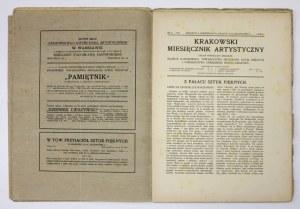KRAKOWSKI Miesięcznik Artystyczny. Organ poświęcony sprawom: Muzeum Narodowego, Towarzystwa Przyjaciół Sztuk Pięknych i ...