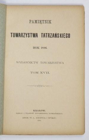 PAMIĘTNIK Tow. Tatrzańskiego, t. 17: 1896.