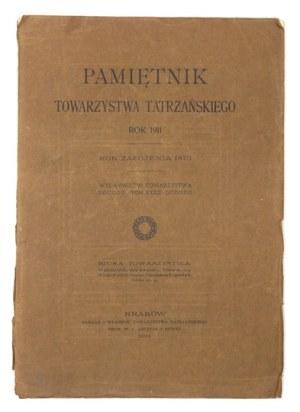 PAMIĘTNIK Tow. Tatrzańskiego, t. 32: 1911.