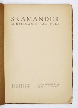SKAMANDER. T. 6, z. 44-46: II-IV 1926. Z okł. T. Gronowskiego i tekstami m.in.: A. Słonimskiego, J. Tuwima, M....