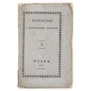 WIZERUNKIi Roztrząsania Naukowe. Cz. 10: 1835