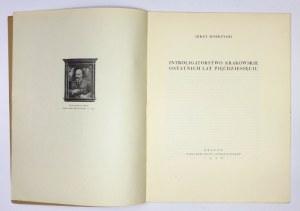 DOBRZYCKI Jerzy - Introligatorstwo krakowskie ostatnich lat pięćdziesięciu. Kraków 1926. Cech Introligatorów. 4, s....