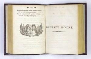 Debiutanckie, wileńskie tomy poezji Adama Mickiewicza z 1822 i 1823 r.