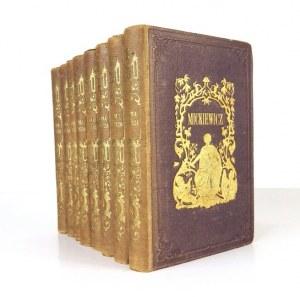 A. Mickiewicz - Pisma. T. 1-8. W oprawie A. Kantora.