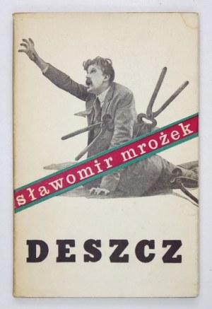 S. Mrożek - Deszcz. 1962. Z dedykacją autora.