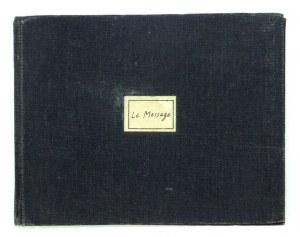 Folon J.M. - Le message. Paris 1967. Z akwarelą dedykowaną S. Mrożkowi.