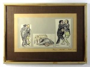 Trzy rysunki J. Czapskiego do