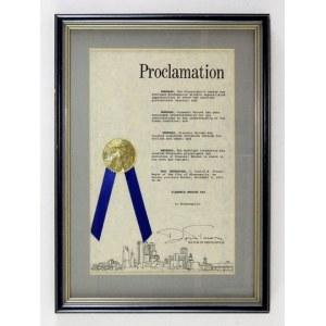 Dzień S. Mrożka w Minneapolis. Dyplom z 4 XI 1991.