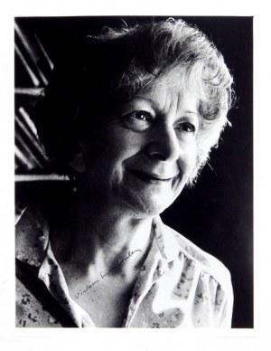 W. Szymborska. Podpis na fotografii noblistki.