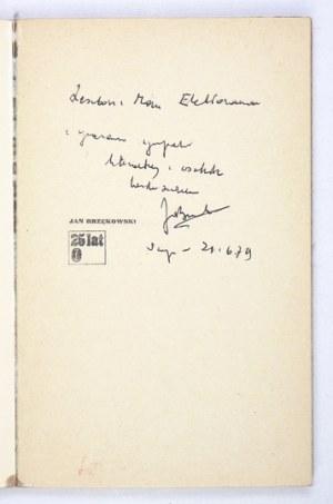 BRZĘKOWSKI J. – Buty No 138. 1978. Z odręczną dedykacją autora.