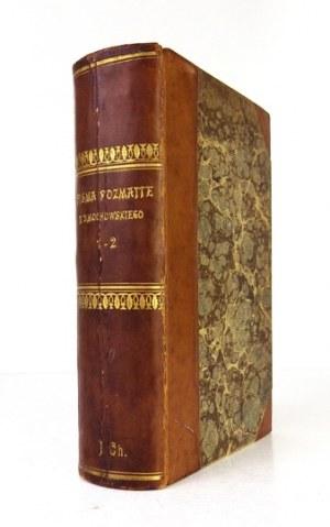 F. Dmochowski - Pisma rozmaite. Cz. 1-2. 1826. Egzemplarz I. Chrzanowskiego w oprawie R....