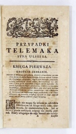 FENELON François de Salignac de La Mothe - Podroże i przypadki Telemaka, syna Ulissesa, przez Franciszka Solignac de la ...