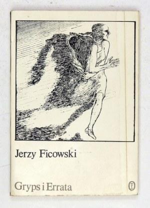 J. Ficowski - Gryps i errata. Wiersze. 1982. Z dedykacją autora