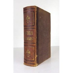 KRASICKI [Ignacy] - Dzieła. Dziesięć tomów w jednym. Z portretem autora. Nowa edycya Barbezata. Berlin 1845. Księg....
