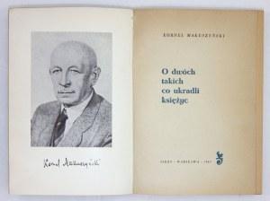 MAKUSZYŃSKI Kornel - O dwóch takich co ukradli księżyc.Okładkę projektował Marian Stachurski, ilustrował Konstanty Sopo...