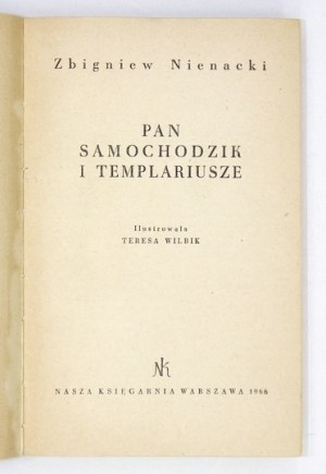Z. Nienacki -Pan Samochodzik i templariusze. 1966. Wyd. I.