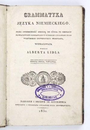 LIDL Albert - Grammatyka języka niemieckiego. Przez zwierzchność szkolną do użycia po szkołach powiatowych i gimnazyach ...