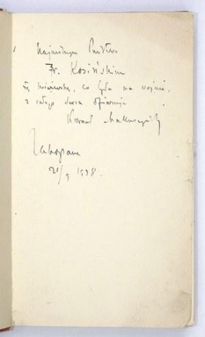 MAKUSZYŃSKI Kornel - Piosenki żołnierskie. Poznań [1928]. Wydawnictwo Polskie R. Wegner. 16d, s. 156, [3]. opr....
