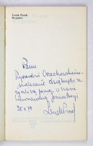 PROROK L. – Wyspiarze. 1974. Z dedykacją autora.
