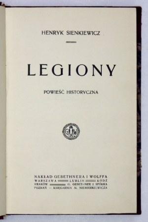 H. Sienkiewicz - Legiony. 1918. Wyd. I.