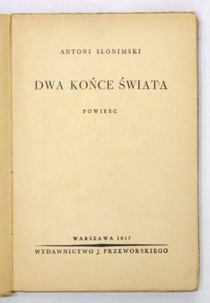 SŁONIMSKIA. – Dwa końce świata. 1937. Z obwolutą spółki Levitt-Him.