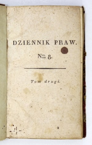 DZIENNIK Praw. T. 2. 1816.