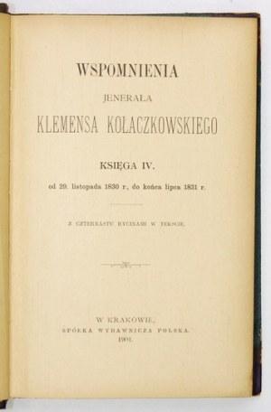 K. Kołaczkowski - Wspomnienia. Ks. 4-5. Z superekslibrisem Z. Czarneckiego.