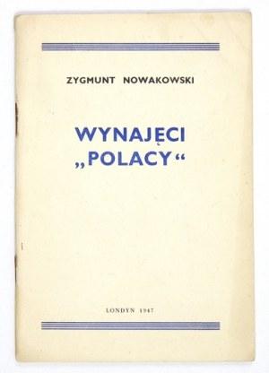 NOWAKOWSKI Zygmunt - Wynajęci