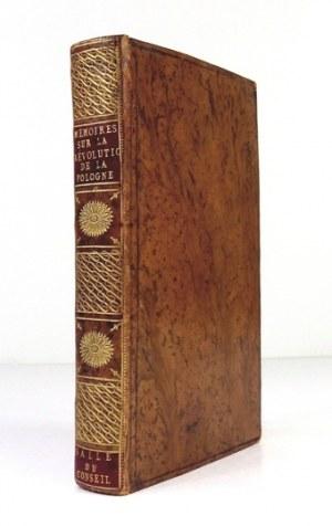 [PISTOR Johann Jakob] - Memoires sur la Révolution de la Pologne, trouvés a Berlin. Paris 1806. 8, s. [4], CIV,...