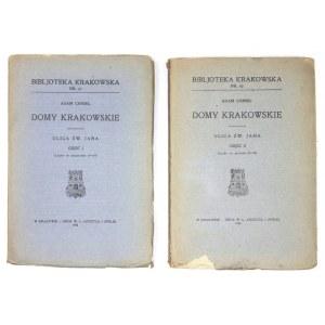 CHMIEL Adam - Domy krakowskie. Ulica św. Jana. Z 37 ilustracjami. Kraków 1924. Towarzystwo Miłośników Historyi i Zabytkó...