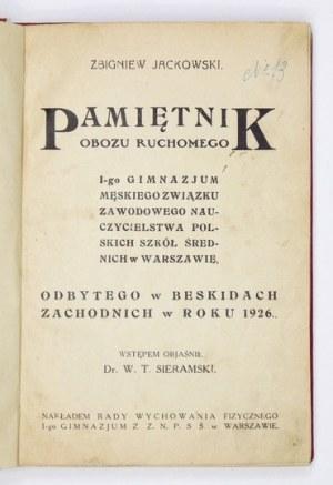 Z. Jackowski -Pamiętnik obozu ruchomego [...] w Beskidach Zachodnich w roku 1926.